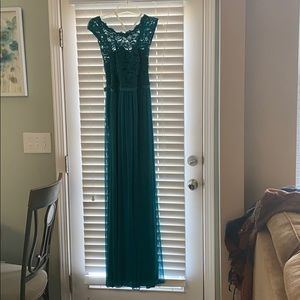 David's bridal teal bridesmaid dress